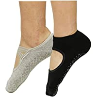 MuYiTai Women's Yoga Socks Non Slip With Grips for Ballet Pilates Barre