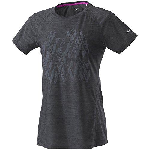 [ミズノ] ランニングウェア Tシャツ 半袖 吸汗速乾 ドライ レディース J2MA8207 09 ブラック M