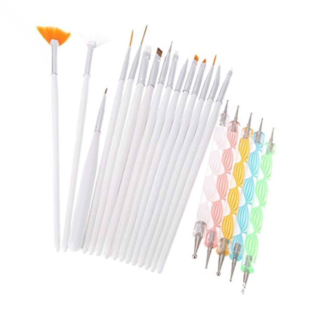 ブローうつ適切にBEE&BLUE ブラシ ネイルブラシ ネイルデザインペン ファション オシャレ ペン 美人 ホワイト