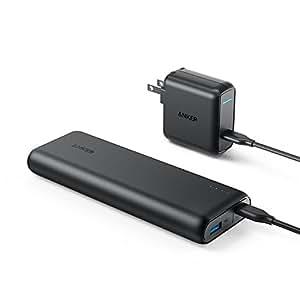 Anker PowerCore Speed 20000 PD (20100mAh 超大容量モバイルバッテリー)【PSE認証済 / 最軽量 / Power Delivery対応 / USB-C急速充電器付属】iPhone & Android対応 *2019年10月時点(ブラック)