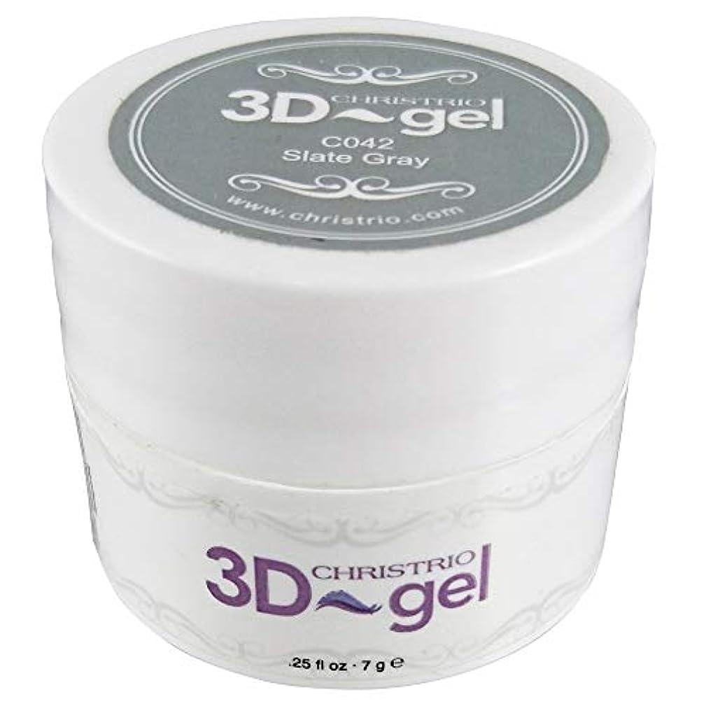 パートナーブルーベルフラスコCHRISTRIO 3Dジェル 7g C042 スレートグレイ