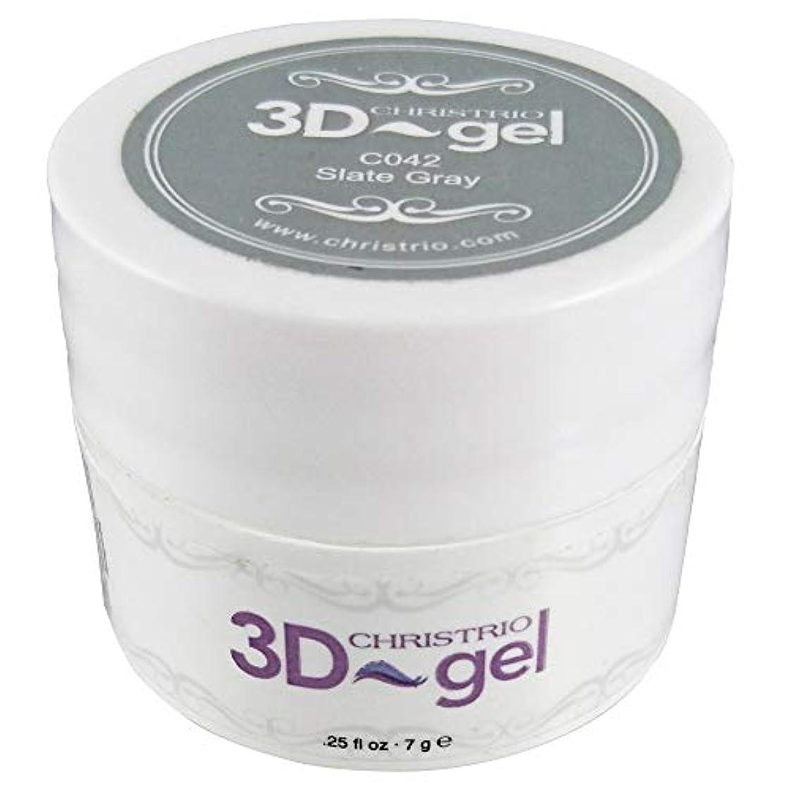 回答冷笑する鉛筆CHRISTRIO 3Dジェル 7g C042 スレートグレイ