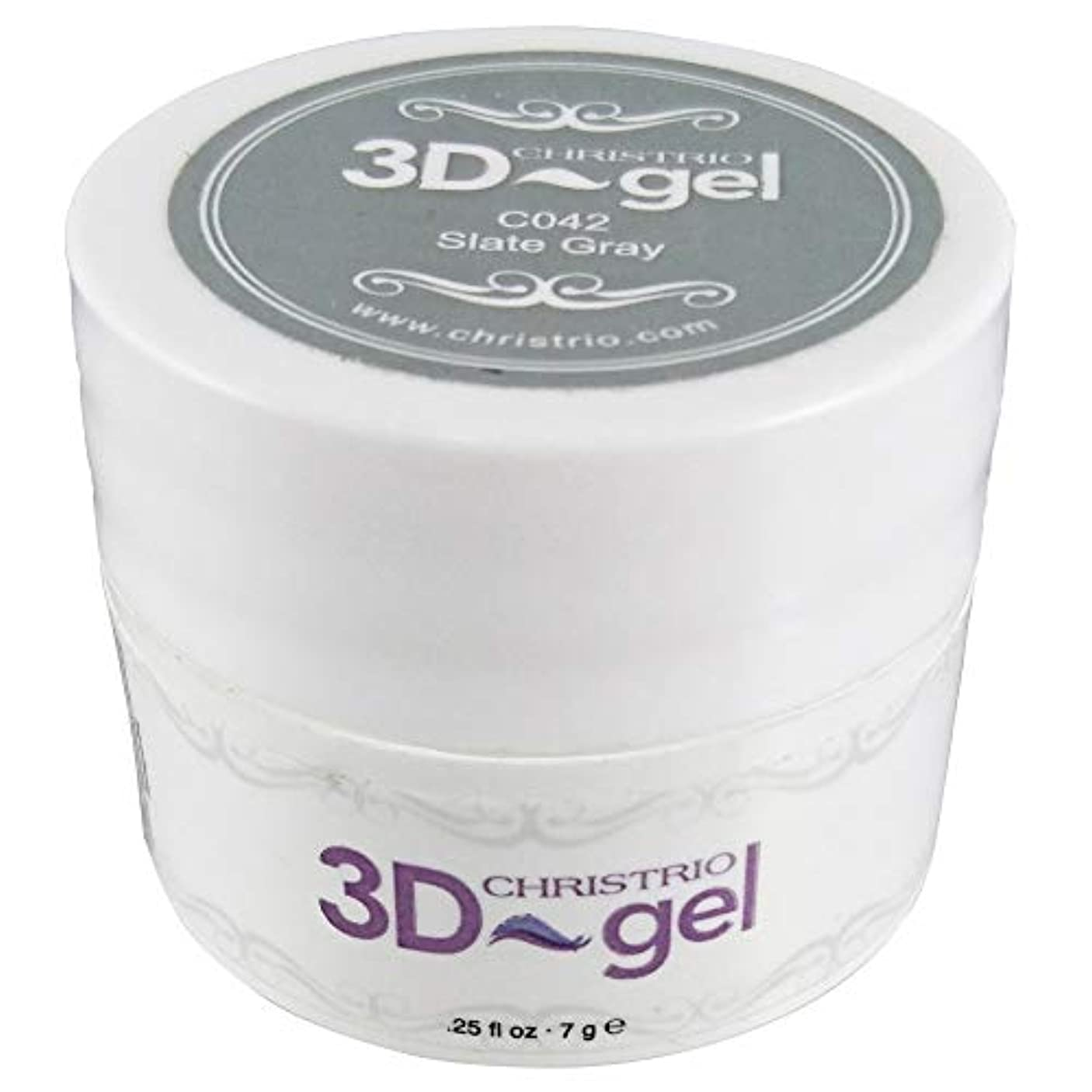 ビジュアル偏見貫入CHRISTRIO 3Dジェル 7g C042 スレートグレイ