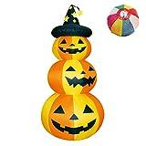 【ハロウィンエアブロウ】3段ハロウィン(1個) / お楽しみグッズ(紙風船)付きセット [おもちゃ&ホビー]