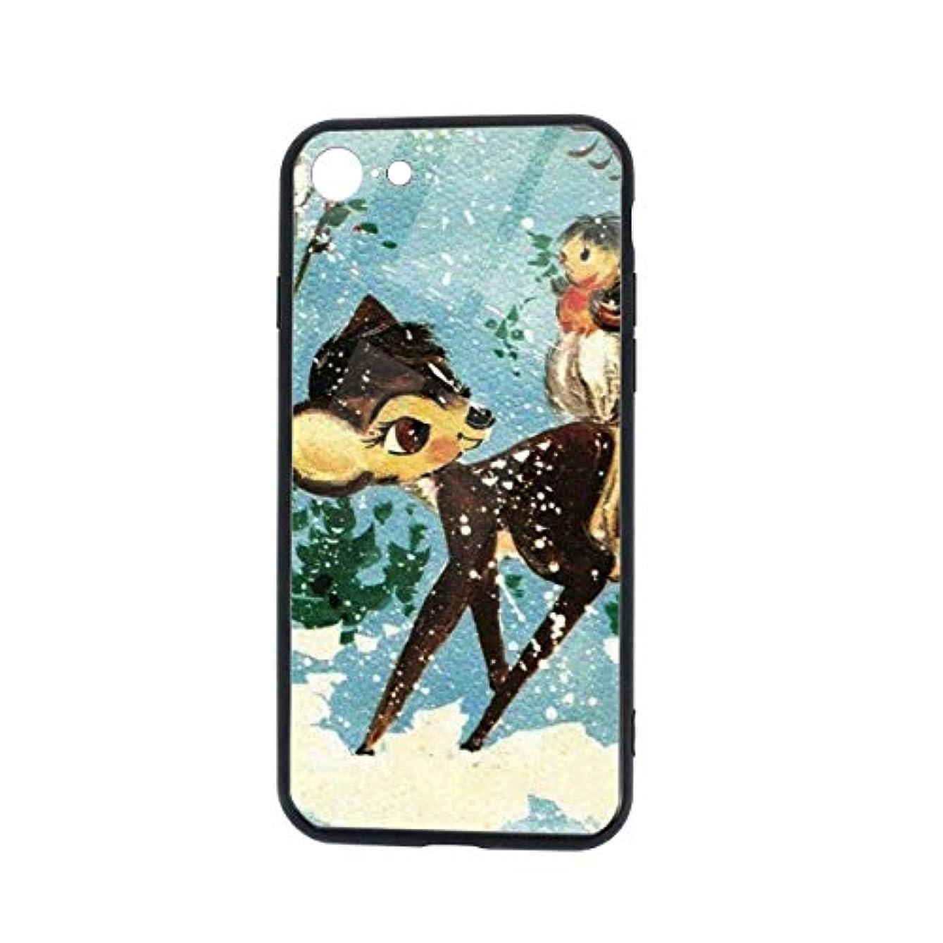 ひねくれた乞食パリティIPhone8 ケース IPhone7ケース メリークリスマス トナカイ 強化ガラス 高透明 黄変防止 四隅滑り止め ストラップホール付き