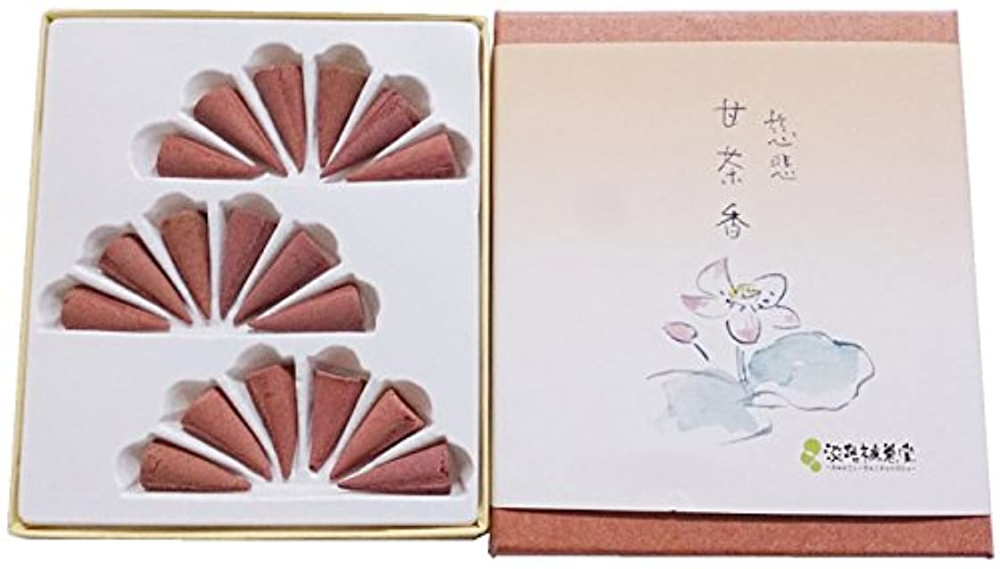 ゲスト規模統計淡路梅薫堂のお香 慈悲甘茶香 コーン 18個入 #4 jihi incense cones 日本製