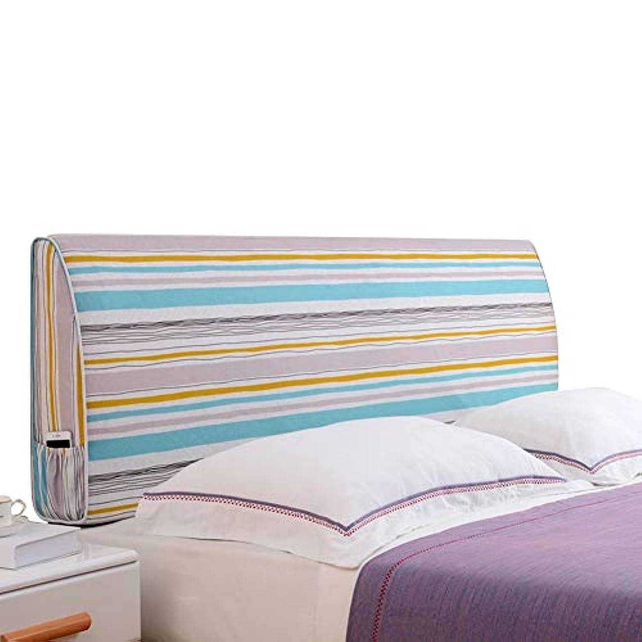 衣服暴力的なフィードオンLIANGLIANG クションベッドの背もたれ ダブルベッド 寝室 印刷 枕 高密度 スポンジ 無味 環境を守ること、 6色 (Color : B, Size : 180CM)