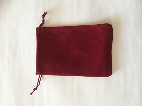 [해외]사각형 15 * 10cm 고급 벨벳 풍의 보석 저장 백이 레드 20 장/Rectangle 15 * 10 cm Luxury Velvet style jewelry storage Drawstring bag - Red 20