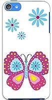 sslink iPod touch6 アイポッドタッチ6 ハードケース ca981-1 蝶 バタフライ スマホ ケース スマートフォン カバー カスタム ジャケット apple