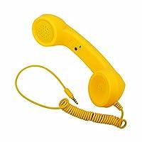 elegantstunning3.5ミリメートルユニバーサル電話電話耐放射線レシーバー携帯電話ハンドセットクラシックヘッドフォンマイク