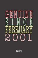 Genuine Since February 2001: Notebook