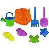 Zhuhaitf 屋外の ビーチ ガーデン プール 子供 遊び 砂/水 組合せ ツール Set 砂 成形 おもちゃ キット(8PCS)