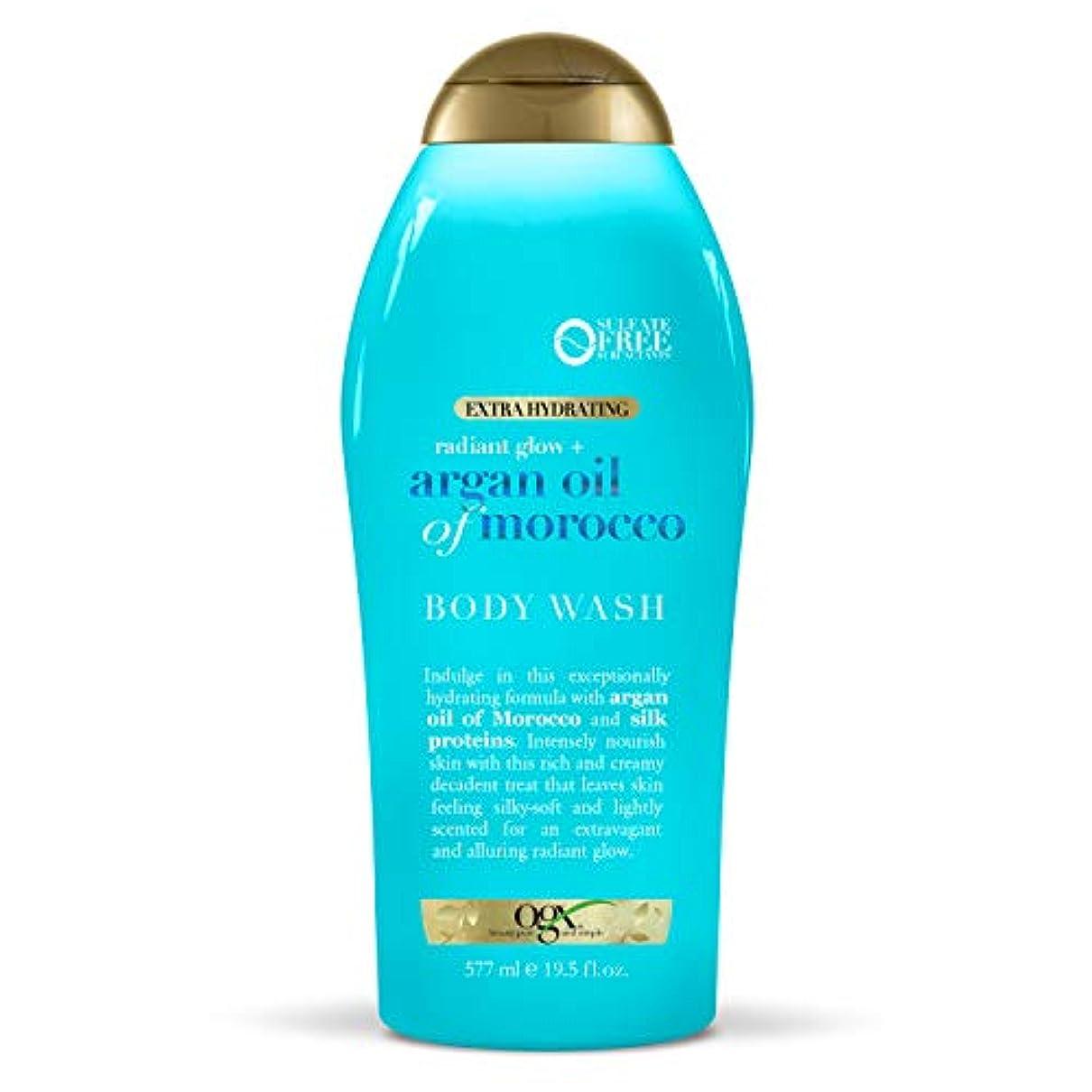 福祉ブーム信念OGX Argan Oil of Morocco Extra Hydrating Body Wash, 19.5 Ounce [並行輸入品]