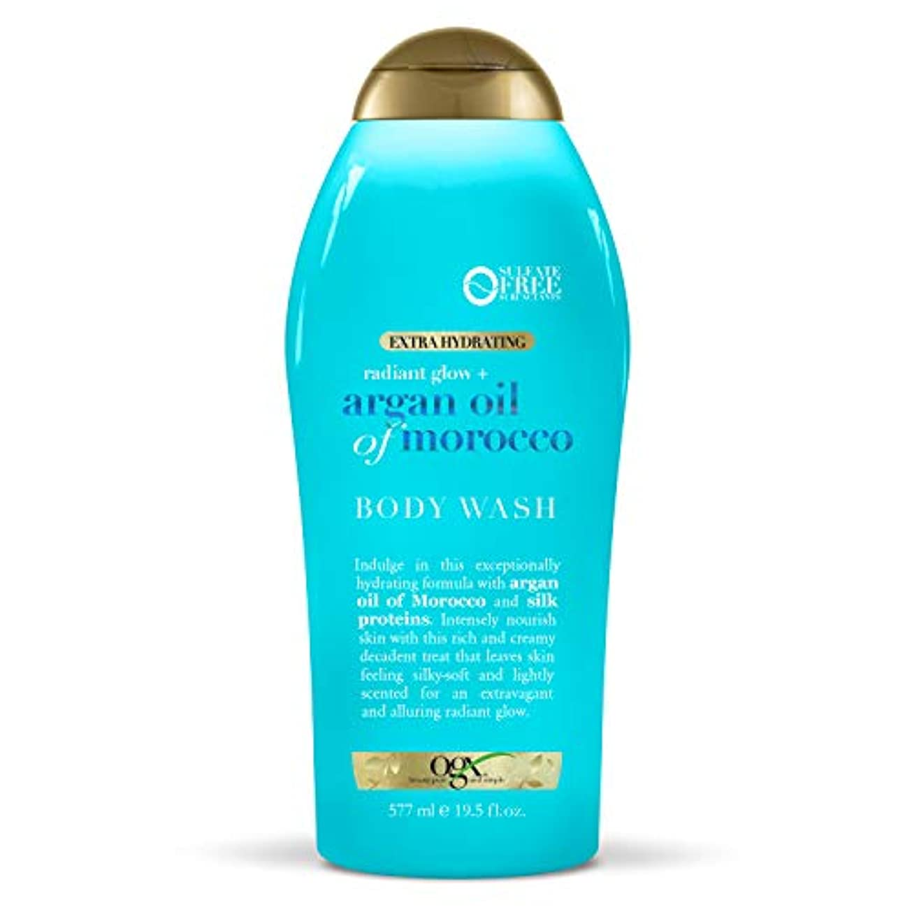 成人期その成熟したOGX Argan Oil of Morocco Extra Hydrating Body Wash, 19.5 Ounce [並行輸入品]