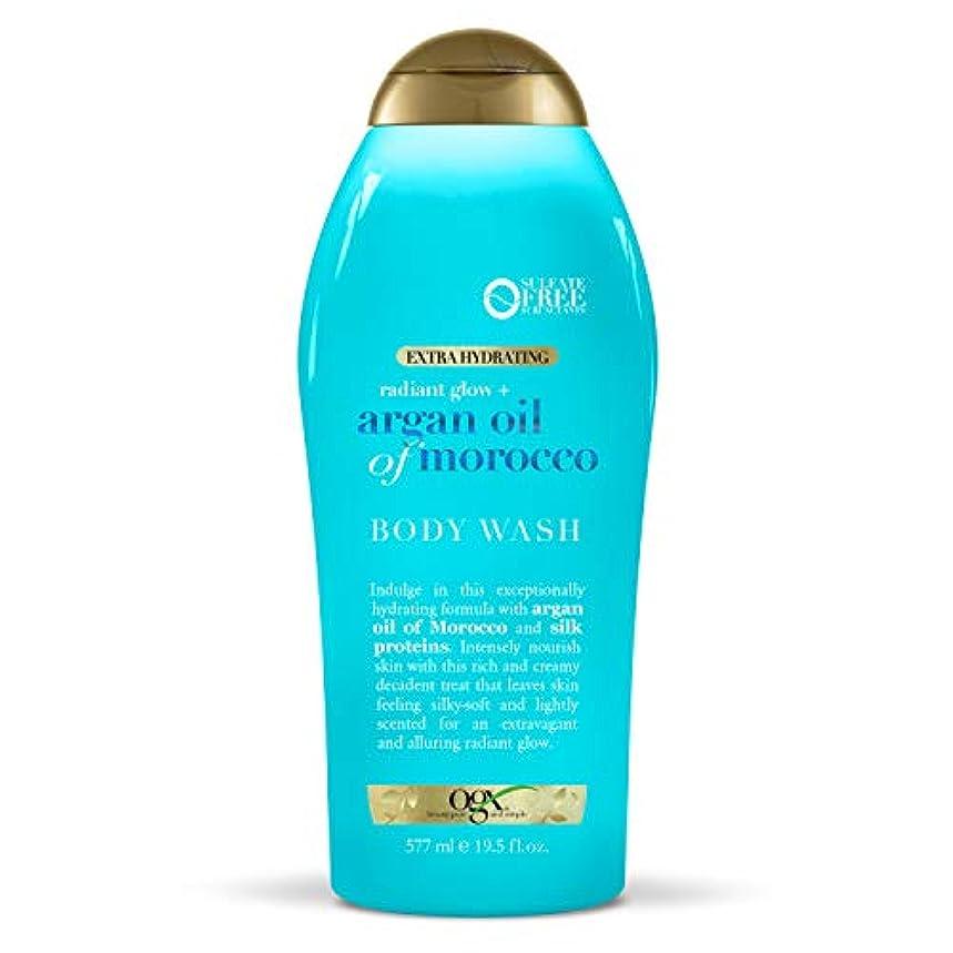 外交問題発音プロトタイプOGX Argan Oil of Morocco Extra Hydrating Body Wash, 19.5 Ounce [並行輸入品]
