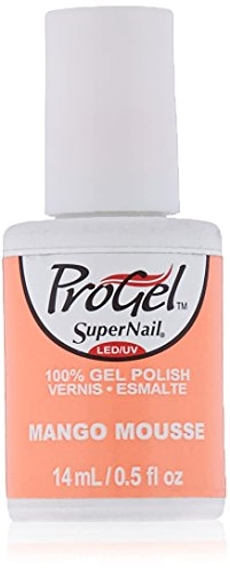 ケーブルカー怠惰前方へSuperNail ProGel Gel Polish - Mango Mousse - 0.5oz / 14ml