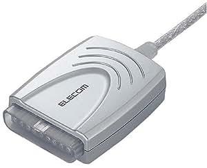 ELECOM ゲームパッドコンバータ USB接続 プレステ/プレステ2コントローラ対応 マクロ機能搭載 1ポート JC-PS201USV
