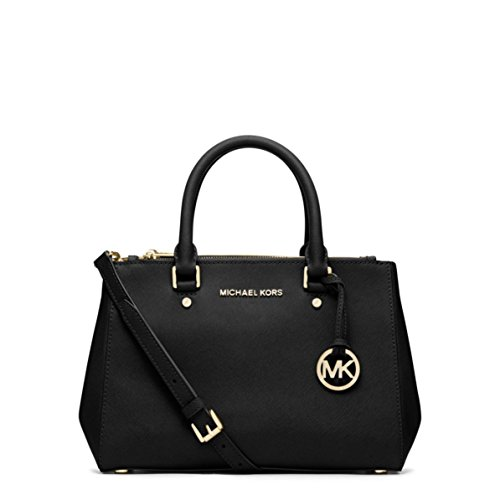 MICHAEL KORS SUTTON SMALL SATCHEL BLACK [並行輸入品]