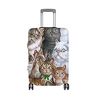 スーツケースカバー おしゃれ 狐 森 絵画 目立つ 洗える 伸縮素材 旅行 弾性設計 防塵 ラゲッジカバー キャリーカバー 人気 S M L サイズ