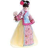 Dovewill ビニールボディ 10関節 布製 インテリア 飾り 中国古代衣装人形ドール あもちゃ スタンド付