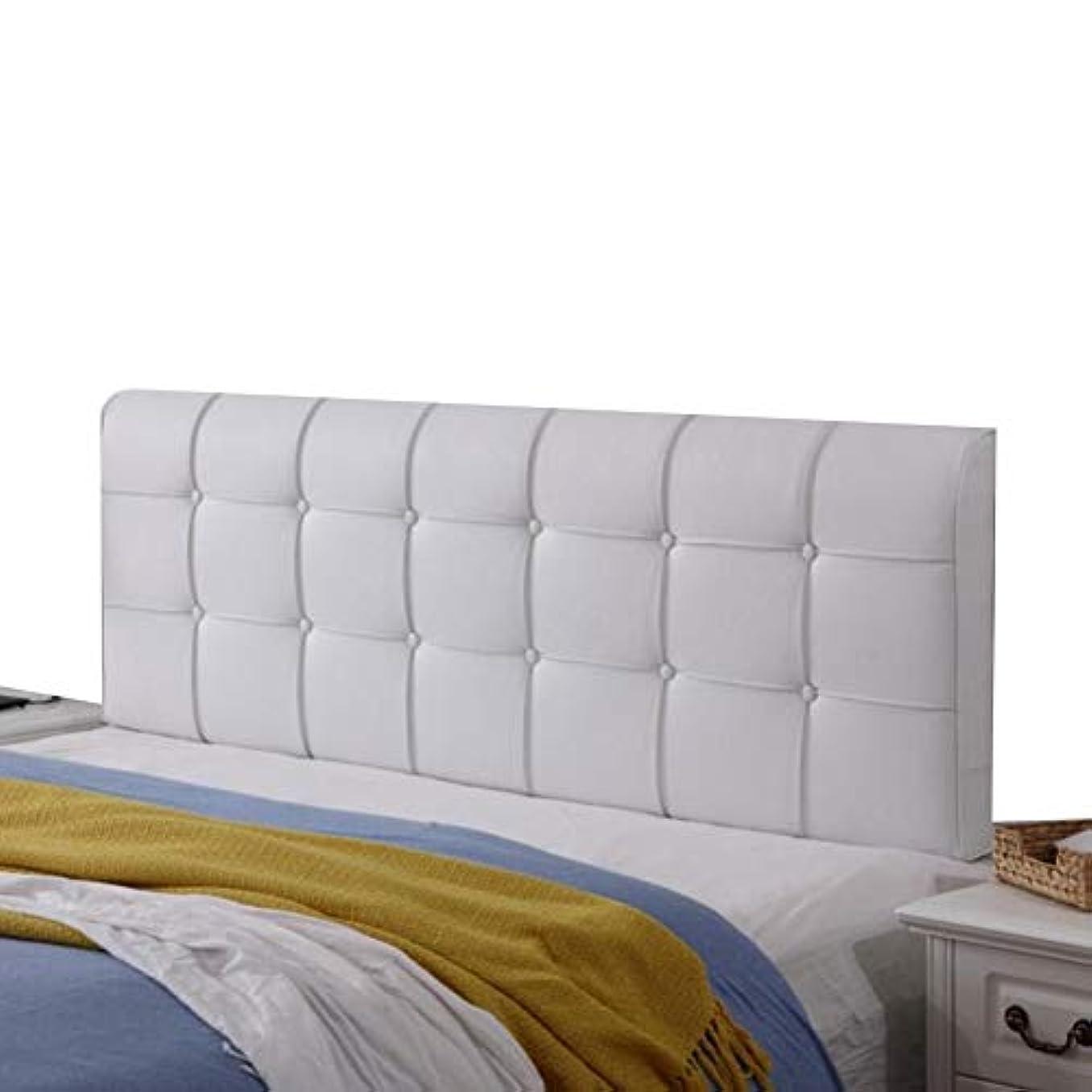 道路を作るプロセス囲むリストLIANGLIANG クションベッドの背もたれ100%スポンジ 枕 ベッドの背もたれ 読書ウエストパッド ダブルエクストララージ PU防汚 丈夫 、5色、12サイズ (色 : 白, サイズ さいず : 150x58x10cm)
