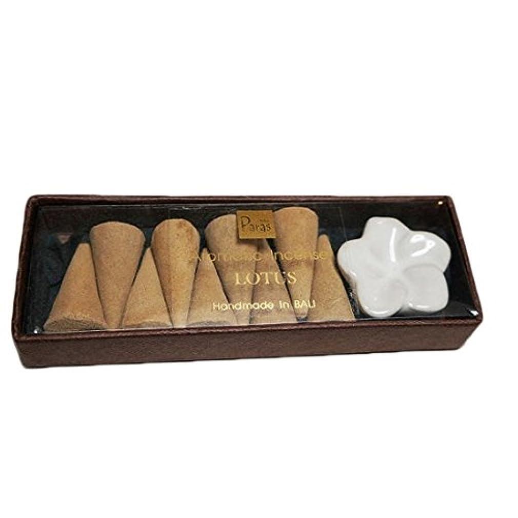 昨日アプトトチの実の木ロータス お香セット【トコパラス TOKO PARAS】バリ島 フランジパニの陶器のお香立て付き ナチュラルハンドメイドのお香