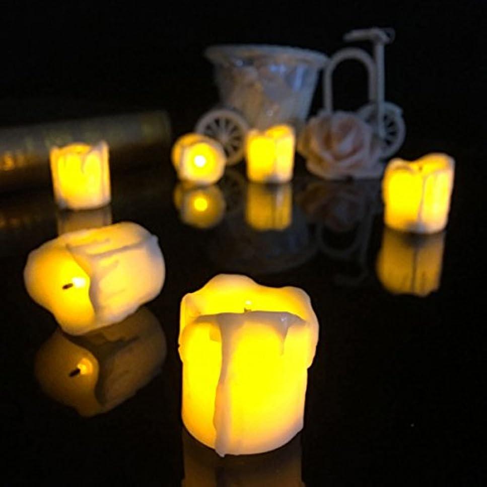 注目すべきブローホールすきライト – 4 34 5 cm Powered LEDキャンドルライトハロウィンクリスマス装飾 – ガイド付きカンデラ発光ダイオードテーパワックス標準 – 1pcs