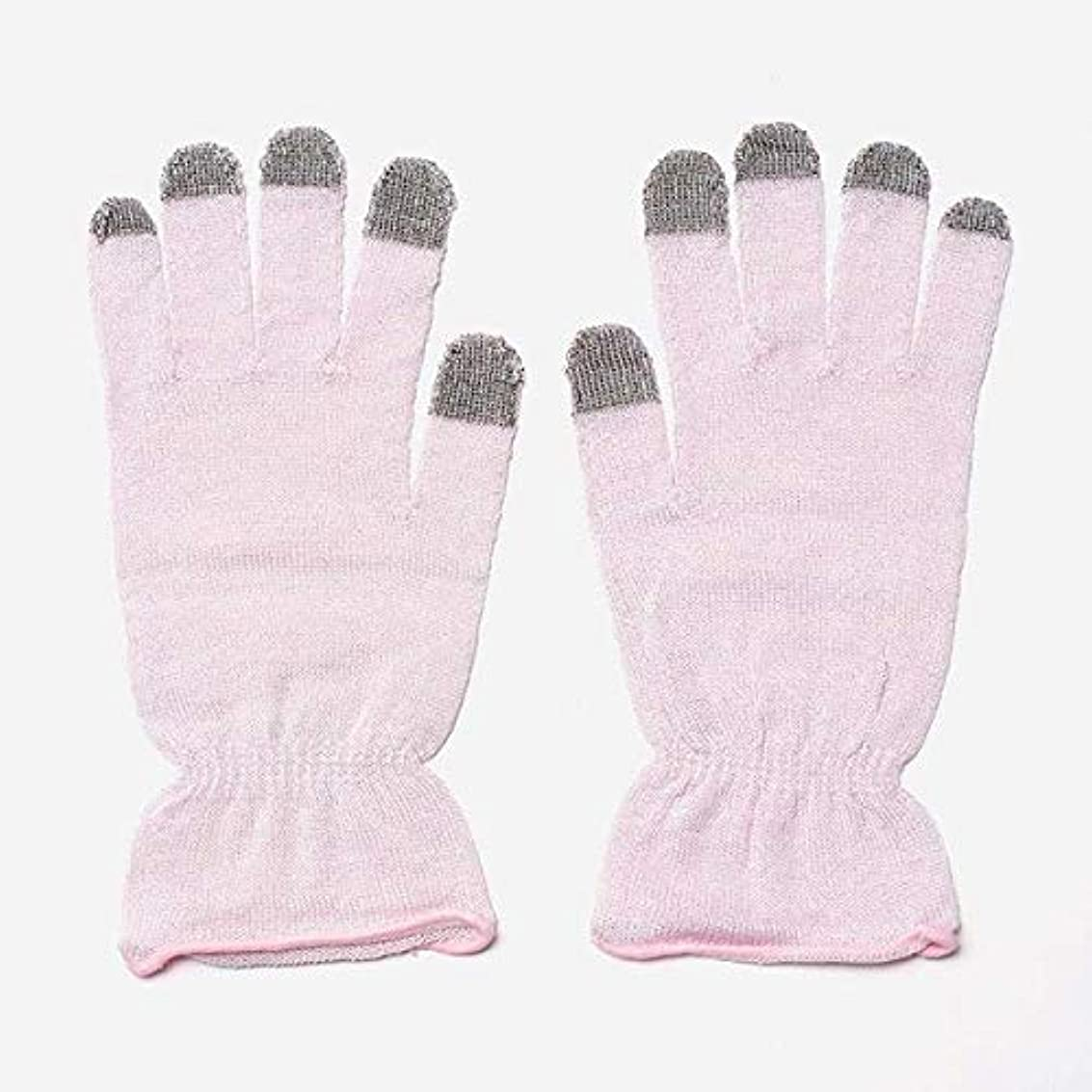 検出器ダーリンさびたKEYUCA(ケユカ) H 絹混 おやすみ手袋