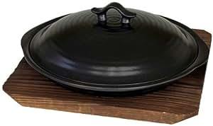 電子レンジ用 ニューセラミック フライパン 焼杉なべ敷付きドリームキッチン(レシピ付)