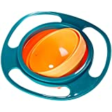 MagiDeal Baby Gyro Bowl 360 Dgree Rotate Spill Resistant Bowl with Lid Toy Tableware
