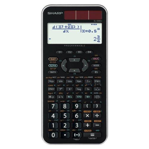 シャープ 関数電卓 416関数機能 式通り入力表示 スライド式...