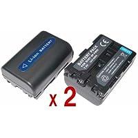 『2個セット』 SONY NP-FM50 互換 バッテリー の 2個セット DSC-R1 DSC-F828 DSC-F717 HDR-SR1 DSC-F707 等対応