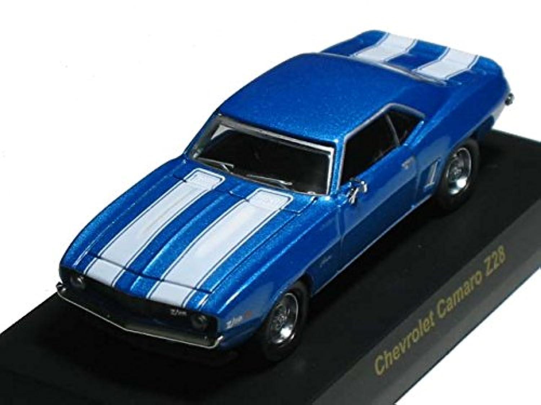 京商 1/64 USAスポーツカー ミニカーコレクション1 シボレー カマロ Z28 青メタ