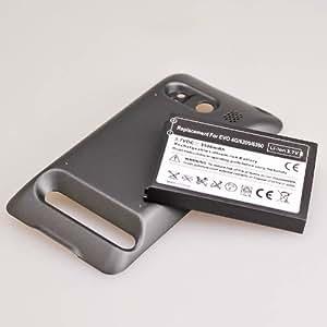 No brand au htc EVO WiMAX ISW11HT 専用 超大容量バッテリー+カバーセット 3500mAh