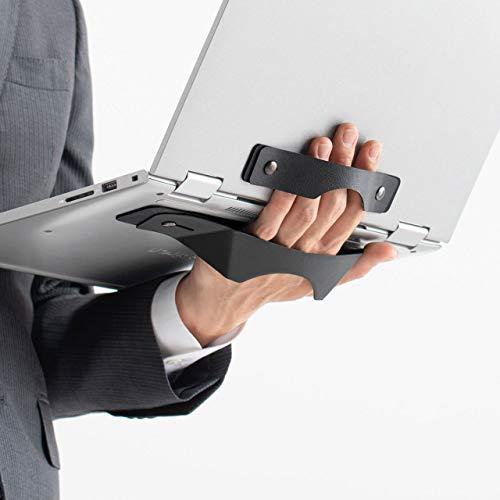 サンワダイレクト ノートパソコン タブレット 手持ちホルダー 落下防止 再剥離テープ貼り付け 持ち運び 200-CA040