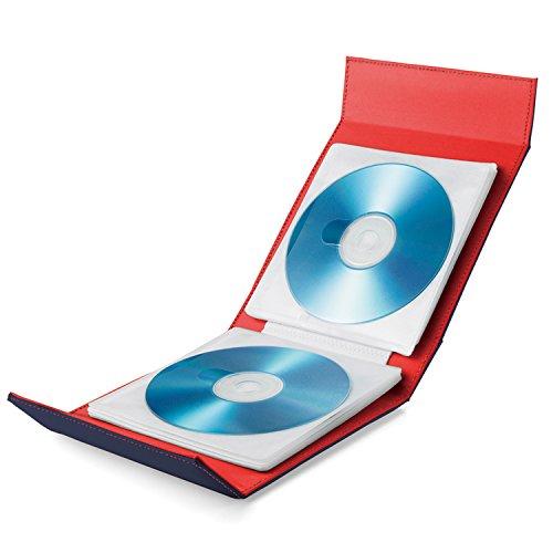 エレコム CD DVD Blu-ray対応手帳型メディアケース マグネット開閉/24枚収納 ネイビー CCD-CB24NV 1個 24枚収納