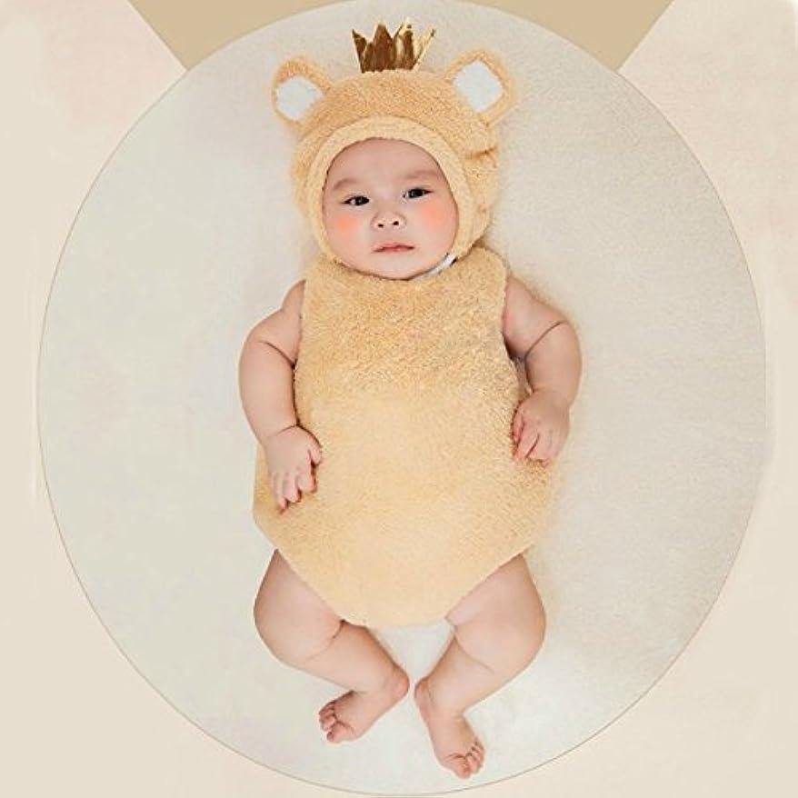 運命的なパッドキリスト教【Abz company】 クマ もこもこ あったか おくるみ 超 かわいい ロンパース 新生児 男女共用 0か月~6か月 カバーオール 幼児 出産祝い ハロウィン コスチューム クマ(ブラウン)
