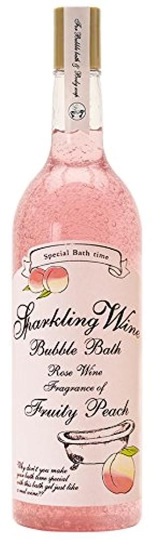 促す上院毛皮ノルコーポレーション 入浴剤 バブルバス スパークリングワイン 大容量 810ml ピーチの香り OB-WIB-3-3