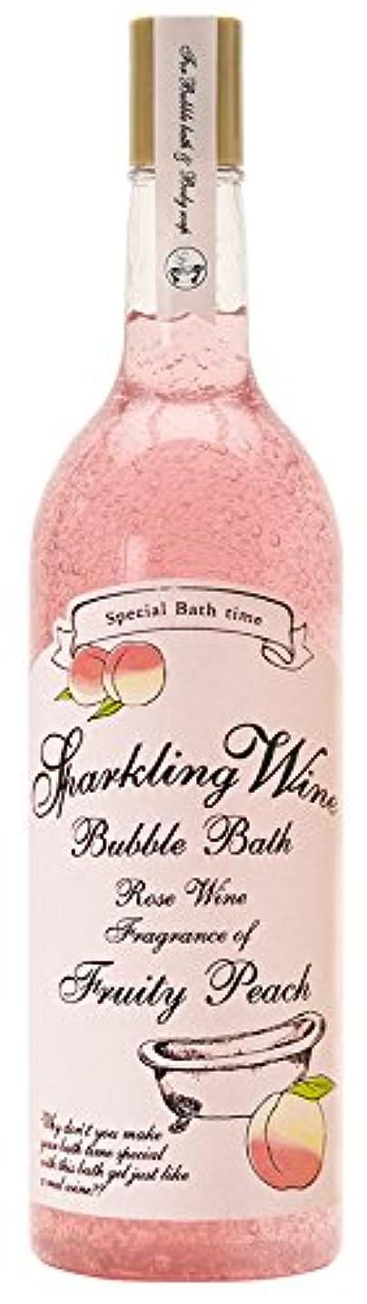 泣き叫ぶファランクスどういたしましてノルコーポレーション 入浴剤 バブルバス スパークリングワイン 大容量 810ml ピーチの香り OB-WIB-3-3