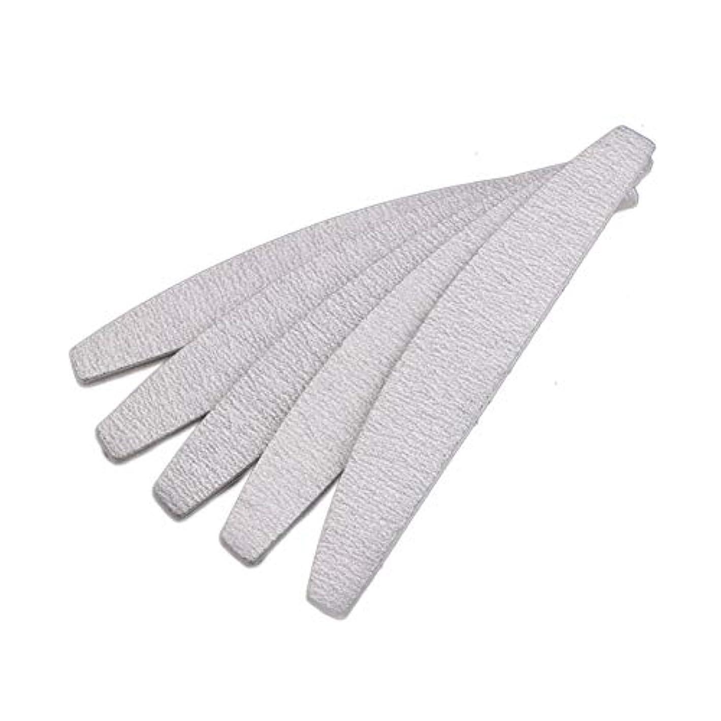 現在ヘルパーウミウシSemoic 爪やすり ネイルファイル、D形、両面、灰白/オフホワイト、10個