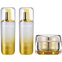 [3set] MISSHA Super Aqua Cell Renew Snail Skin Treatment + Essntial Moisturizer + Cream/ミシャ スーパー アクア セルリニュー カタツムリ スキントリートメント +エッセンシャルモイストライザー+クリーム [並行輸入品]