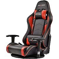 GTRACING ゲーミング座椅子 360度回転 180度リクライニング ハイバック 可動肘 ヘッドレスト クッション付き (GT890-red)
