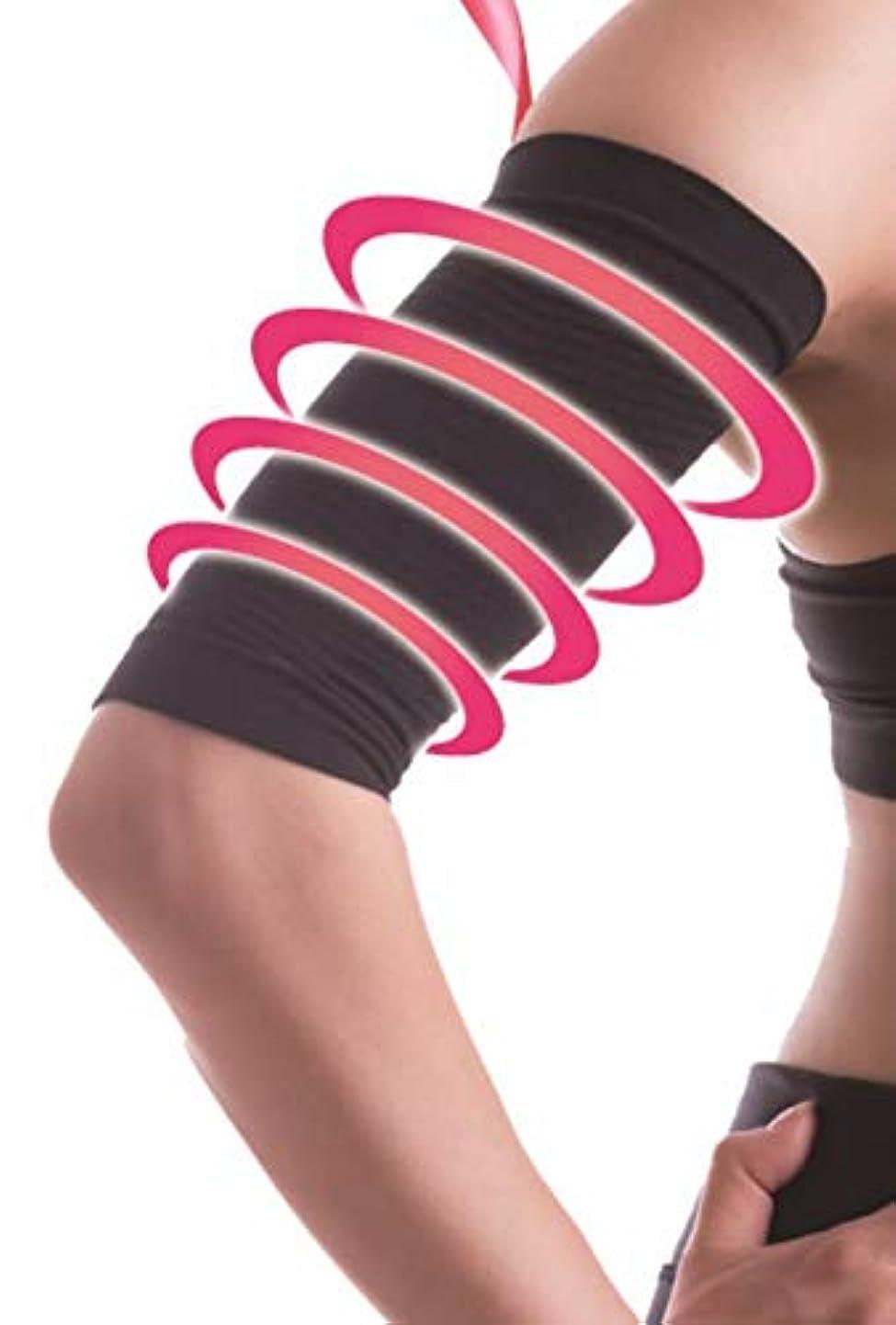 ウィンクスライムセールスマン【公式】Vinel arm shaper ヴィーネルアームシェイパー 寝ながら二の腕ダイエット 二の腕痩せ 加圧 着圧 下着 ブラック (黒, フリー(腕回り20-35)) (6)