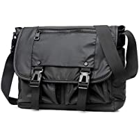 Fanspack Men Messenger Bag Waterproof Satchel Nylon Crossbody Pouch Shoulder Bag Purse