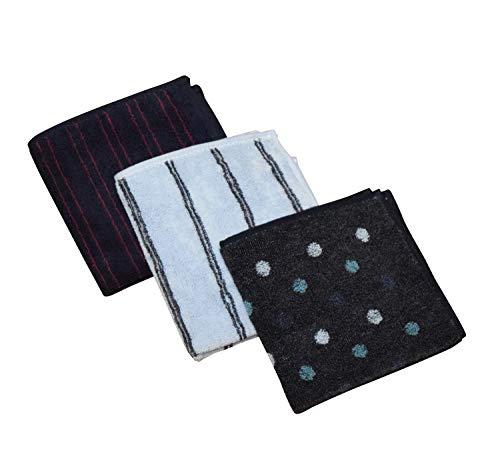 [オール] ハンカチ メンズ 抗菌防臭 吸水速乾 タオルハンカチ 3枚 5枚 セット ギフト箱入り (3枚セット(ギフトボックスなし))