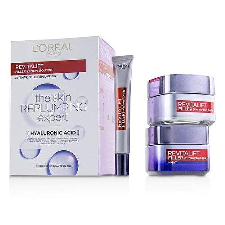無心呼吸する忘れられないロレアル Revitalift Filler Renew Routine Set: Day Cream 50ml/1.7oz + Night Cream 50ml/1.7oz + Eye Cream 15 ml/0.5oz...