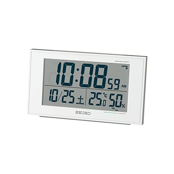 セイコー クロック 目覚まし時計 電波 デジタル...の商品画像