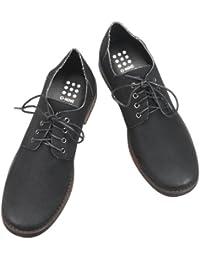 [オーナイン] O-NINE メンズ シューズ 靴 カジュアルシューズ カジュアル レースアップ カジュアル フェイクレザー フェイクスエード シューズ プレーントゥ 【AZ351C】