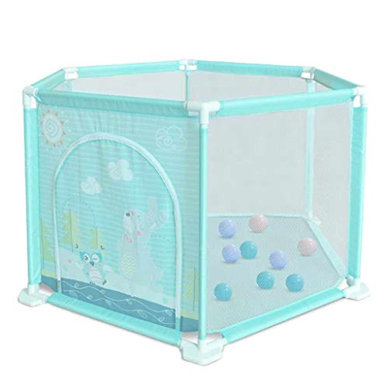 子供の遊びフェンスの幼児の安全フェンス屋内の遊び場の赤ちゃんのクロールマットの幼児 (Color : Blue, Size : 50.5 * 116cm)
