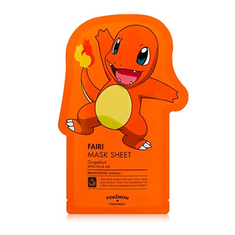 価値家事透けて見えるTONYMOLY x Pokemon Charmander/Fairi Mask Sheet (並行輸入品)